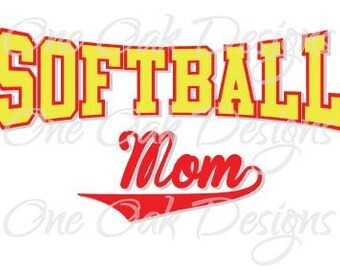Softball Mom SVG File, PDF for Cameo Silhouette Studio Software V2 V3 Cricut & other electronic cutters Vinyl decal, Die Cut