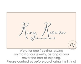 Ring Resize for Melanie Casey Rings