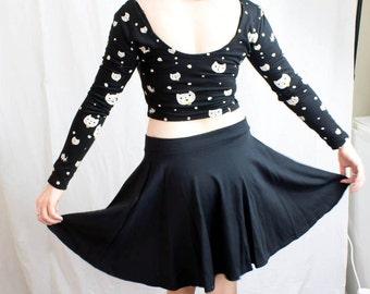 Cotton Lycra Skater Skirt