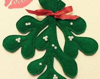 Felt Mistletoe Christmas Ornament Decoration
