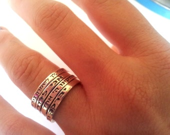 Personalized rings for women & men, hebrew blessing rings, graduation ring , good wishes jewelry
