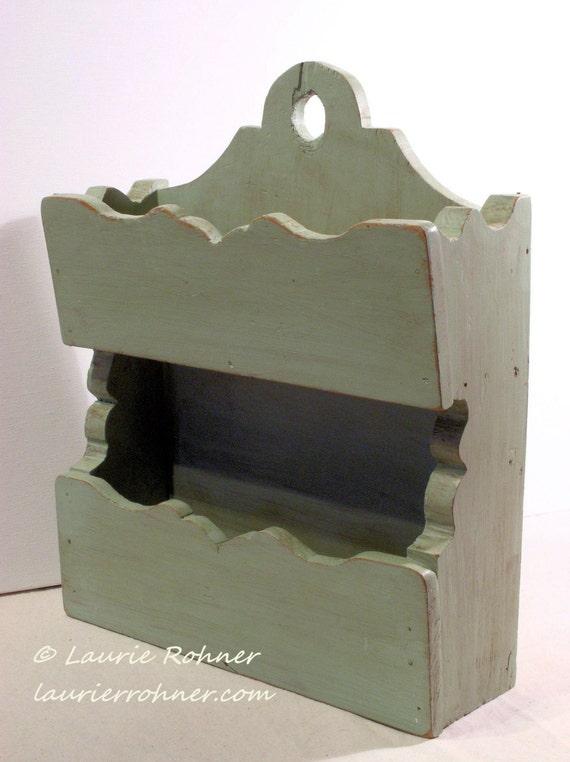 Items Similar To Painted Furniture Hanging Organizer Sage