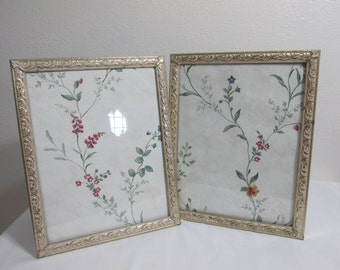 Picture Frames Matching Set of 2 Gold 8 x 10 Metal