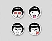 flapper emoji button pack #1