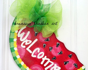 Sweet Slice of Summer Door Hanger - Bronwyn Hanahan Art
