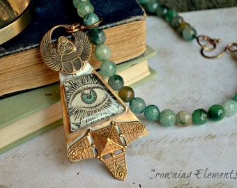 Jade Pharaoh's All Seeing Eye Necklace