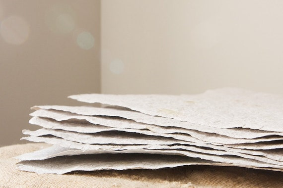 White Sage Handmade Paper-8 Sheets