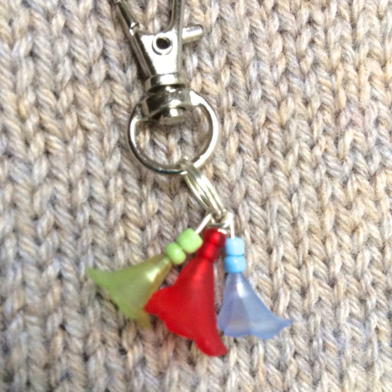 Knitting Markers Etsy : Knitting progress marker french doors from rosyretro on