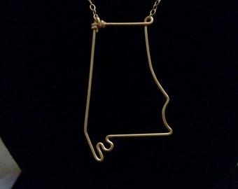 Alabama State Necklace
