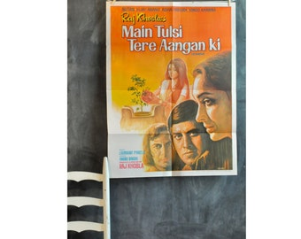 Vintage 1978 Rare India Bollywood Movie Poster Advertisment -I Am a Tulsi Plant in Your Courtyard