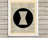 Digital Dictionary Art Print - AVENGERS - BLACK WIDOW  - 8x10 Size