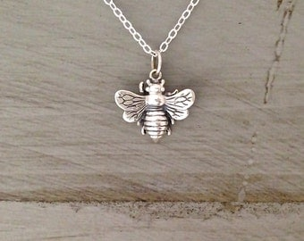 Sterling Silver Bee Necklace Honey Bee Necklace Gold Bee Necklace Rose Gold