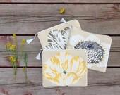 Cosmetic Bag, Makeup Bag, Floral Bag, Zipper Pouch, Zipper Bag, Gift Idea, Bridesmaid Gifts, Tulip Bag, Sunflower Bag, Jannysgirl