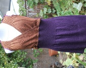 One of a Kind Redesigned Purple and Copper Metallic Dress/Tunic