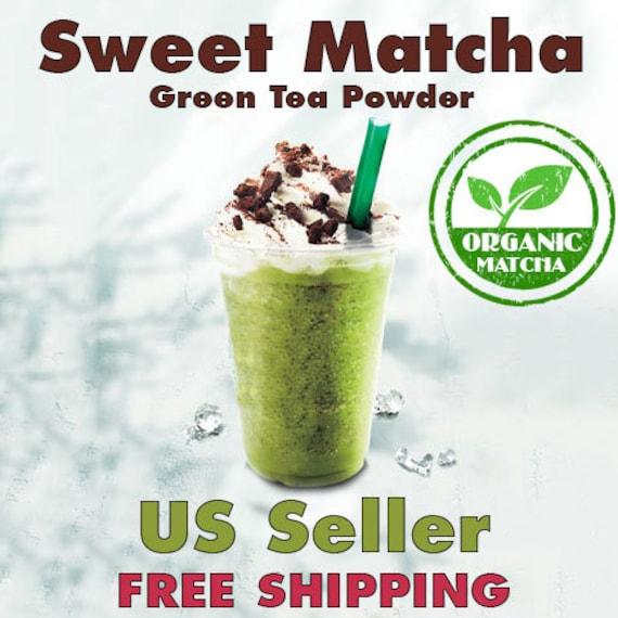 Sweet matcha green tea