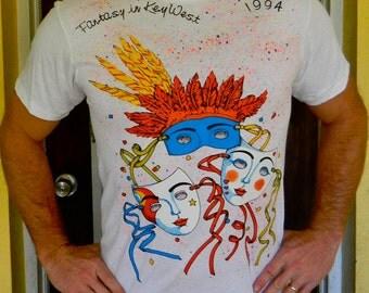 Fantasy Fest 1994 Key West vintage tee shirt size snug large