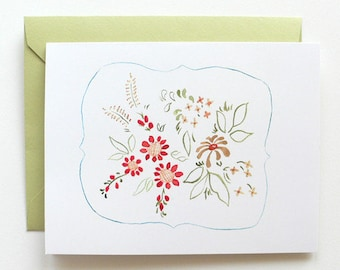 50% Off SALE - Folk Art Card Single