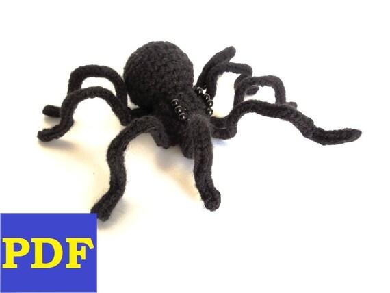 Amigurumi Spider Pattern : PDF Crochet Amigurumi Animal Pattern: Black Widow Spider and