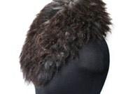 Felted Scarf Fur Free Handmade Felt Neck Warmer Eco Friendly Raw Sheep Fleece Scarf OOAK Felt Gift