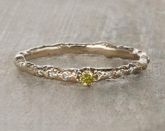 Brooks Yellow Diamond Ring