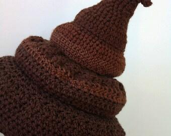 Poop Hat, Crap Head Hat, Toilet Hat, Gag Gift, Funny Hat, Crochet Beanie, Halloween Costume, Men, Women, Sh*t Head Hat, Holiday Gift, Turd