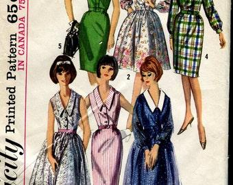 Simplicity 5036 -UNCUT  Vintage 60s Dress Pattern - 34 bust