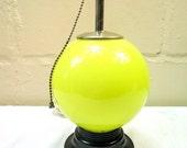 1930's/40's Vintage Art Deco Globe Table Lamp Leviton Pull Chain Lamp
