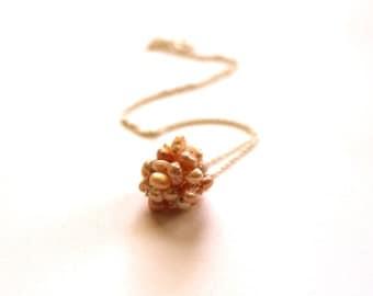 Single Pearl Necklace, Bridal Pearl Pendant Necklace, Pearl Silver Necklace, Pearl Ball Necklace, Sterling Silver Chain