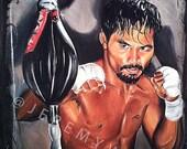JEREMY WORST Custom Sports Athlete Acrylic Painting