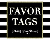 Matching Party Favor Tags - PRINTABLE TOPPER DESIGN