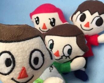 Custom Made to Order Animal Crossing Villager Plush