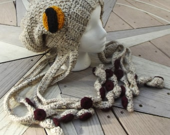 Crochet Octopus Hat Slouchy Beanie - MADE TO ORDER - customizable color schemes