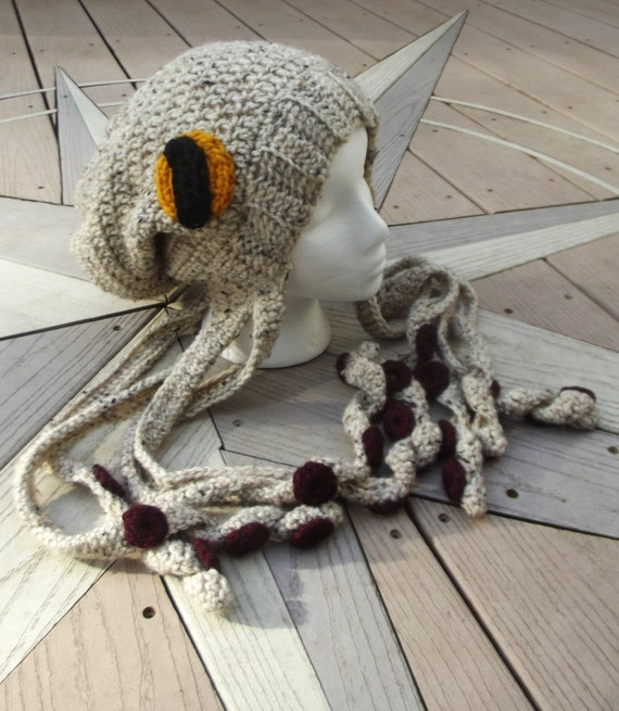 Crochet Octopus Hat : Crochet Octopus Hat Slouchy Beanie - MADE TO ORDER - customizable ...