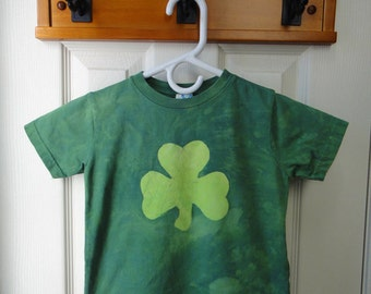 Kids Shamrock Shirt, Boys Shamrock Shirt, Girls Shamrock Shirt, Batik Shamrock Shirt, Toddler Shamrock Shirt, St. Patrick's Day Shirt (3T)