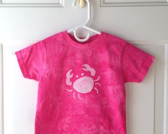 Girls Crab Shirt, Pink Crab Shirt, Kids Crab Shirt, Pink Girls Shirt, Maryland Crab Shirt, Girls Beach Shirt, Pink Beach Shirt (3T)
