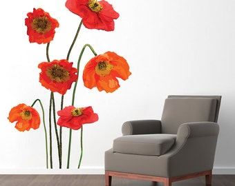 Poppies - Printed Flowers and Shapes Wall Decals