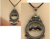 Boho Purple & Blue Chandelier Necklace Jewelry Accessories Handmade Women NEW