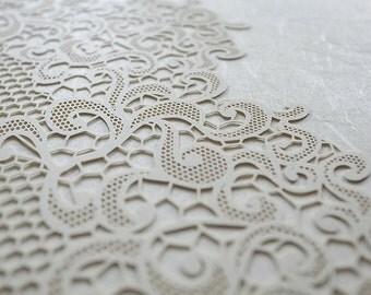 Ketubah Papercut by Jennifer Raichman - Lace Fringe on Japanese Washi Paper