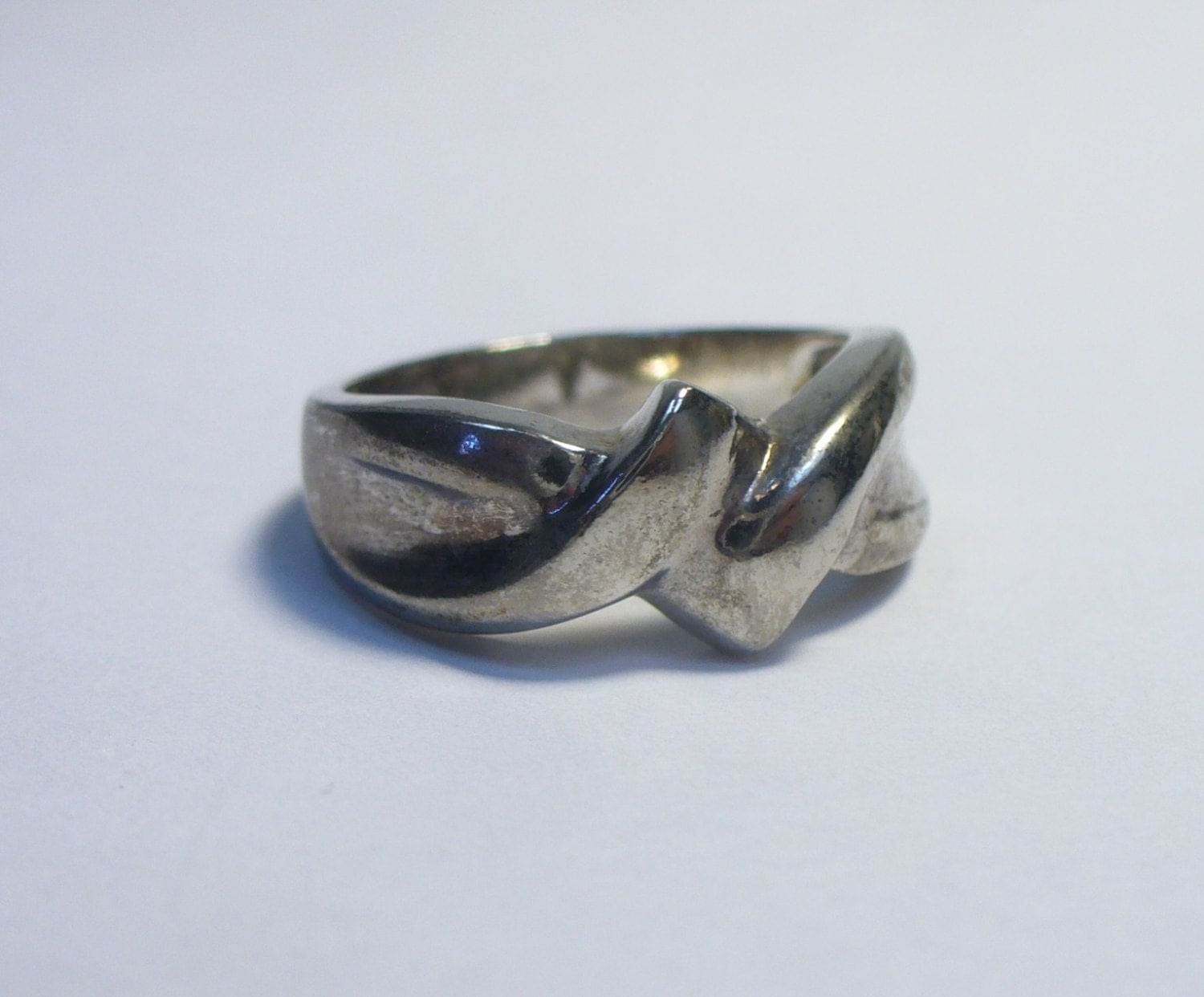 vintage chunky twisted knot sterling silver ring size 7 4 4