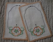 Two Hand Stitched Table Doilies