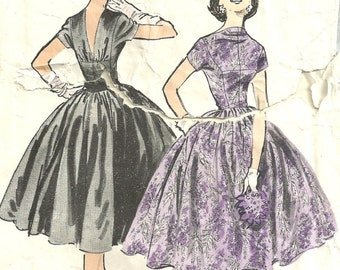 Advance 7914 / Vintage 50s Sewing Pattern / Original Design By Anne Fogarty / Dress / Size 16 Bust 34