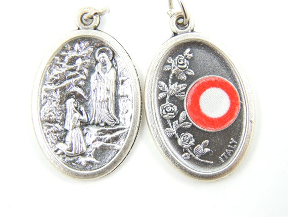Our Lady Of Lourdes Relic Catholic Medal Virgin By