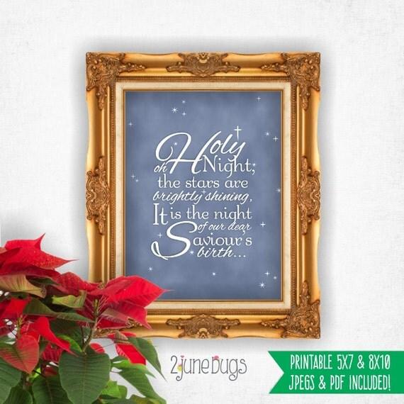 Religious Christmas Wall Decor : O holy night printable wall art christmas