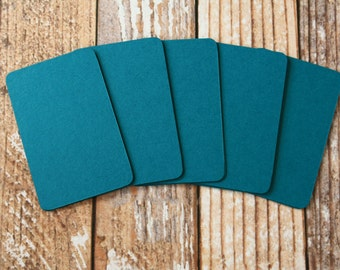 50pc TEAL Blue Lakeland Series Business Card Blanks