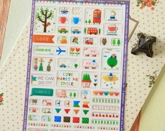 Green Fun Deco Puffy scrapbooking diary stickers