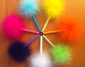 Dazzle Feather Pen - Clueless - 7 Colors to Choose From - Inspired by the movie Clueless - Refillable Ink Pen - Glitter Ribbon