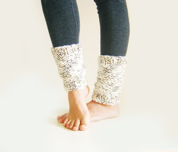 Yoga Leg Warmers Knitting Pattern : Womens Leg Warmers. Knit Yoga Socks. Knitted Leg Warmers