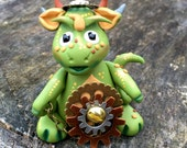 Polymer Clay Dragon 'Oliver' - Limited Edition STEAMPUNK Collectible