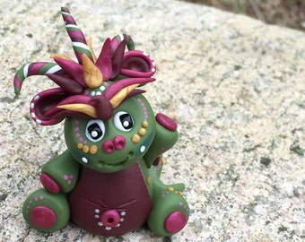 Polymer Clay Dragon 'Olivia' - Limited Edition Handmade Collectible