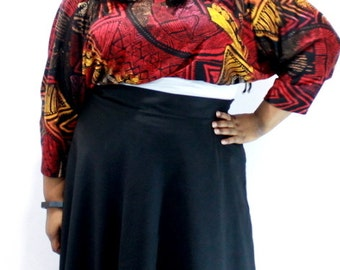 Plus Size Shrug Crop Top Bolero Coverup Fits sizes (14 -24) Red and Yellow Black